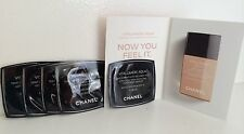Lot of 5 CHANEL Vitalumiere Aqua Skin Perfecting Makeup SPF 15, 30 BEIGE Samples