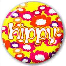 Small 25mm Lapel Pin Button Badge Novelty Hippy