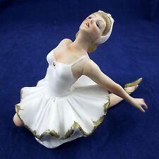 Vintage Porcelain Figurine ODETTE Swan Lake Ballerina Arms Back Pose