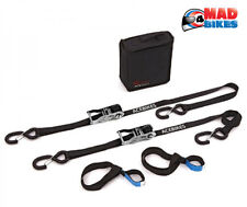 AceBikes - Heavy Duty Motorcycle Tie Down Set, Inc Ratchet Straps & Easy Straps