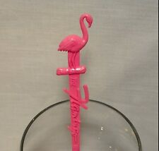 Vtg Swizzle Sticks Drink Stirrers FLAMINGO HOTEL Las Vegas NV Pink Casino