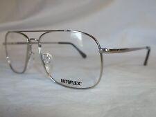 FLEXON 44 MEMORY METAL AUTOFLEX EYE GLASSES FRAME NATURAL 55-16-140 NEW AUTHENTC