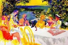 "Leroy Neiman ""Wine Alfresco"" Hand Signed/Numbered Serigraph Dining Outdoors"