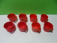 PLAYMOBIL – Lot de 8 sceaux rouges / Bucket / 4055 4082 4179 4187 4318 4468