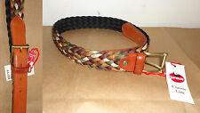 Cintura intrecciata con riporti in pelle  HARMON misura cm. 125