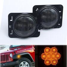 2x 8 LED Parking Side Marker Turn Signal Light Front Fender For Jeep Wrangler JK