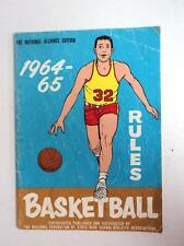 1964-65 National Federation High School Basketball Rules Book