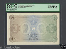 South Africa 20 Pounds ND 18xx PS464s Reverse Proof Specimen About Uncirculated