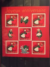France 2005 miniature sheet happy birthday cartoon Becassine MNH perfect