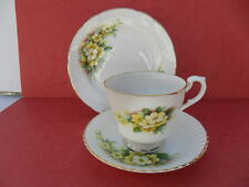 Rownfor Burslem, Yellow Primrose Tea Trio  REDUCED!
