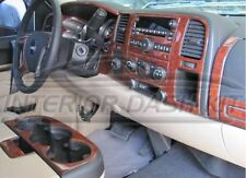 GMC SIERRA SLE SLT 1500 2500 3500 INTERIOR WOOD DASH TRIM KIT SET 2007 2008 2009