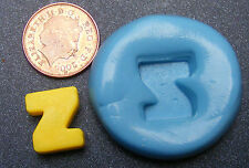 "Reusable Letter ""Z"" Silicone Food Safe Mould, Mold, Sugarcraft, Jewellery, Cake"