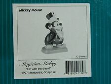 NEW IN BOX Disney WDCC Magician Mickey Mouse On with the Show 1997 Membership