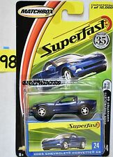 MATCHBOX SUPERFAST 2005 CHEVROLET CORVETTE C6 #24 BLUE