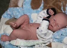 "AWW! BABY BOY ""FLYING HIGH""! Preemie Life Like Reborn Pacifier Doll + Extras"