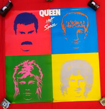 Queen poster Hot Space MINT CONDITION 1982
