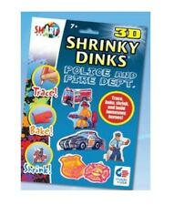 Police & Fireman Fire Department 3D Shrinky Dinks NEW
