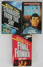 Star Trek 1987-1988 Paperback Mixed Lot of 3, 1st Editions