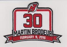 Martin Brodeur Retirement Jersey Patch New Devils Jersey #30