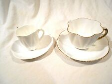 Shelley Cup & Saucer Regency Dainty White & Demitasse White Cup & Saucer