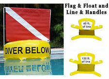 Dive Flag Float Inflatable bouy buoy scuba diver down red White Dive Flag Tube