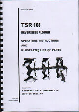 """Ransomes """"TSR 108"""" Reversible Plough Instruction and Illustrated Parts Book"""