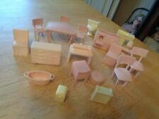 Smaller Scale Vintage Plastic Doll House Furniture~Misc. Pieces~18 Pcs.~