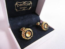 Penrose of London Designer Kronos B Gold Round Swirl Cufflinks - RRP £120 #CL6