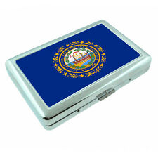 New Hampshire State Flag D1 Silver Cigarette Case / Metal Wallet Card Money Hold