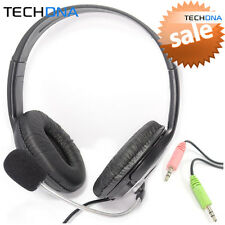 Dynamode DH-660 Stereo Headphone Headset with Microphone Mic for PC/Laptop Skype