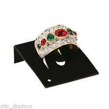 <NEW> LOT OF 100 BLACK RING CARDS JEWELRY CARDS COUNTERTOP DISPLAYS CARD INSERT