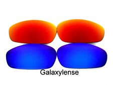Galaxy Replacement Lenses For Oakley Split Jacket Blue&Red Polarized 2Pair