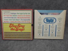 They Sing The Songs (8) Record Box Set 33 LP RCA Custom Readers Digest RDA 036/A