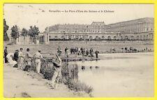 cpa 78 - VERSAILLES (Yvelines) La Pièce d' Eau des SUISSES Ouverture de la PÊCHE