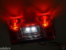 2x SMD LED Lights Red/White Rear License Number Plate Lamps Truck Daf Man Volvo