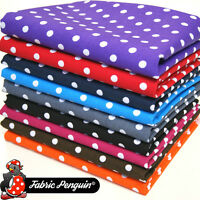Polka Dot Fabric, 8mm Spot 100% COTTON Spotty Red Blue Pink CRAFT