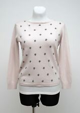 WOMENS BENEDETTAB JUMPER CARDIGAN CASHMERE WOOL PALE PINK SIZE M MEDIUM EXC