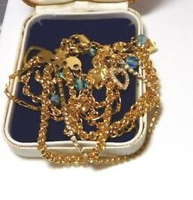 Signed Kirks Folly Gold 7 Tiers Gol Chain Rhinestones Heart Crystal Bracelet