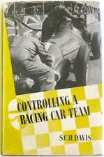 CONTROLLING A RACING CAR TEAM S.C.H DAVIS MOTORSPORT BOOK