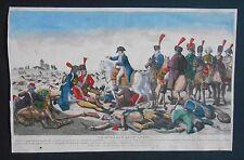 Gravure XIXème - Un Hussard Lithuanien - Napoléon - Coloris d'époque
