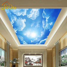 Modern 3D Photo Wallpaper Cloud Sky Blue White Mural Wall Paper Interior Ceiling