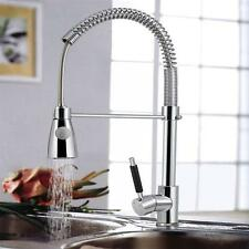 Pull Out Spray Mixer Tap Bar&Kitchen Chrome Swivel Faucet-Single Hole/ Handle