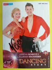Dancing Star 2016 - Verena Scheitz & Florian Gschaider (ORF eins Autogrammkarte)