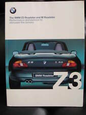 Genuine Original BMW z3 Roadster & M 51-pagina 1999 BROCHURE + 11 pagina guida Tech