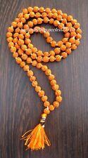 5 MUKHI LORD SHIVA HINDU -BUDHA YOGA 108+1 RUDRAKSHA BEADED 8MM PRAYER MALA