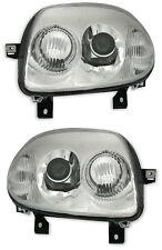 2 FEUX PHARE OPTIQUE LOOK V6 RENAULT CLIO 2 II RS 172/17 NEUF