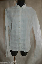 CHEMISE CHEMISIER ANNE FONTAINE T 0 36/38 CAMISA/CAMICA/DRESS SHIRT STRECH TBE