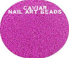 Manicure Caviar Tiny Micro Beads 3D Nail Art Natural Acrylic Gel Nails Purple