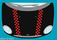 PAIR OF MINI BONNET CHEQUERS GRAPHICS DECALS STICKERS 126A