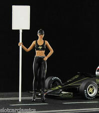 Racer JPS Grid Girl Figure Dania 1/32 Painted Figure w/ Base & Post 1/32 FIG/004